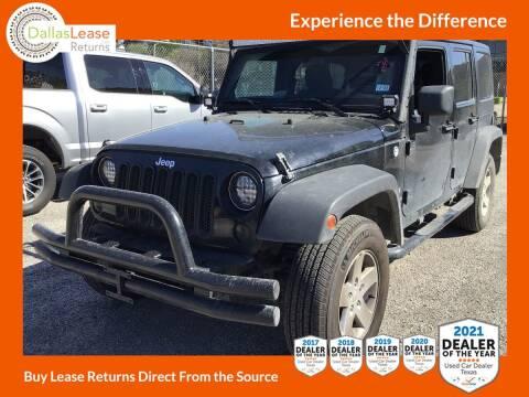 2012 Jeep Wrangler Unlimited for sale at Dallas Auto Finance in Dallas TX