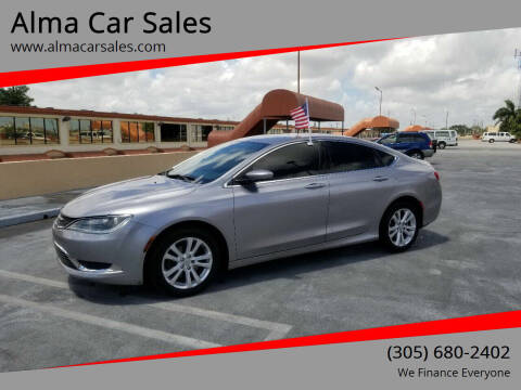 2015 Chrysler 200 for sale at Alma Car Sales in Miami FL