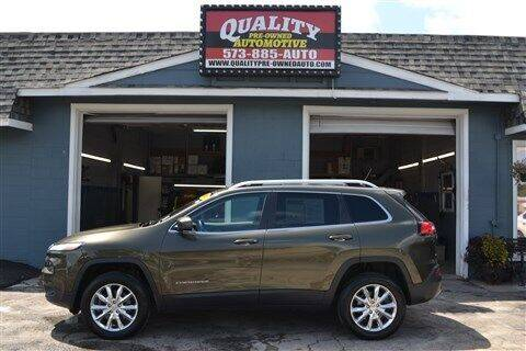 2014 Jeep Cherokee for sale at Quality Pre-Owned Automotive in Cuba MO