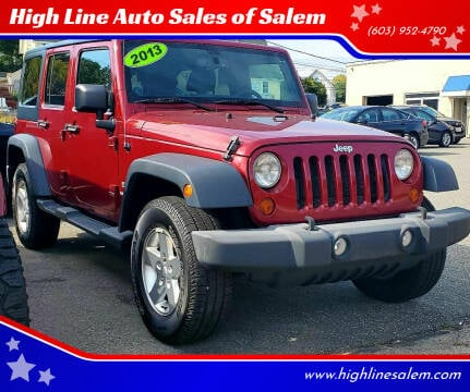 2013 Jeep Wrangler Unlimited for sale at High Line Auto Sales of Salem in Salem NH
