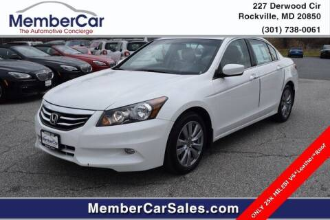 2012 Honda Accord for sale at MemberCar in Rockville MD
