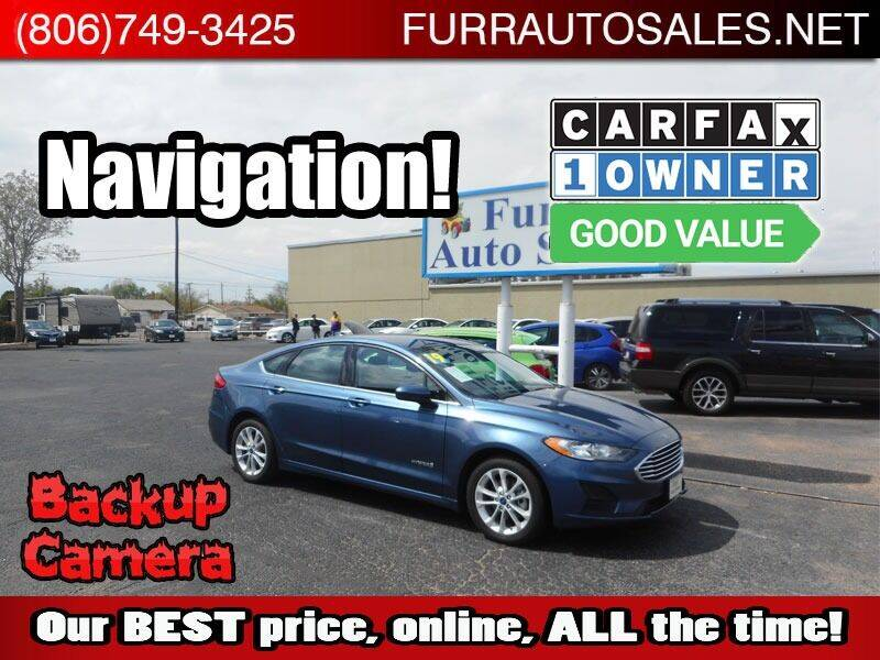 2019 Ford Fusion Hybrid for sale at FURR AUTO SALES in Lubbock TX