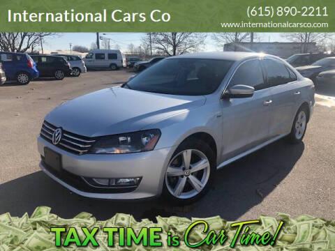 2015 Volkswagen Passat for sale at International Cars Co in Murfreesboro TN