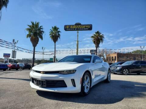 2016 Chevrolet Camaro for sale at A MOTORS SALES AND FINANCE - 10110 West Loop 1604 N in San Antonio TX