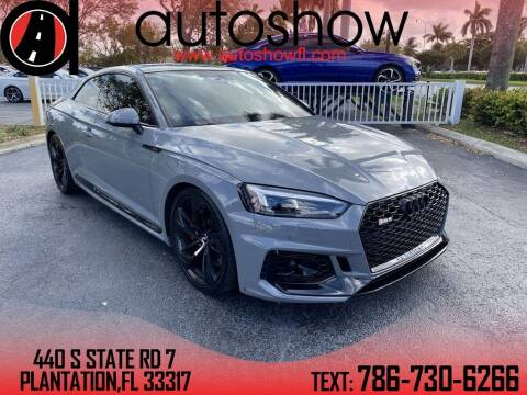 2018 Audi RS 5 for sale at AUTOSHOW SALES & SERVICE in Plantation FL
