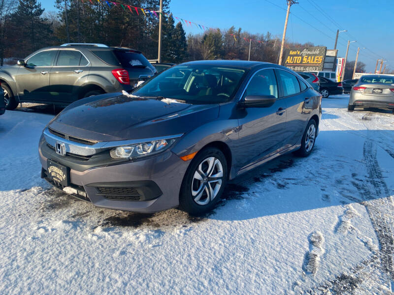 2016 Honda Civic for sale at Affordable Auto Sales in Webster WI