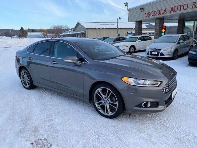2014 Ford Fusion for sale at Osceola Auto Sales and Service in Osceola WI
