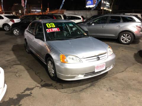 2003 Honda Civic for sale at Riverside Wholesalers 2 in Paterson NJ