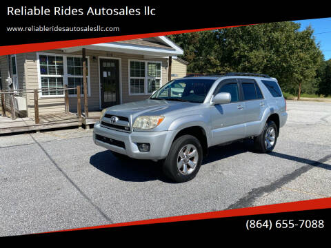 2007 Toyota 4Runner for sale at Reliable Rides Autosales llc in Greer SC