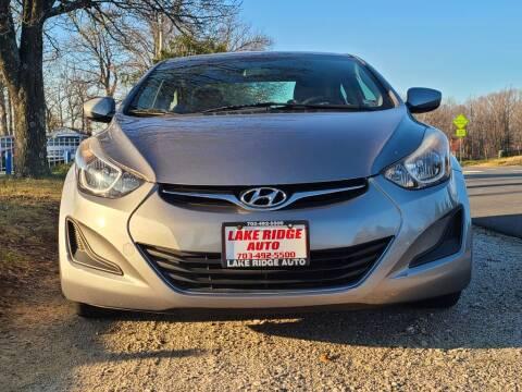 2015 Hyundai Elantra for sale at Lake Ridge Auto Sales in Woodbridge VA