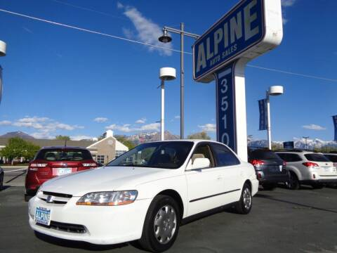 1999 Honda Accord for sale at Alpine Auto Sales in Salt Lake City UT