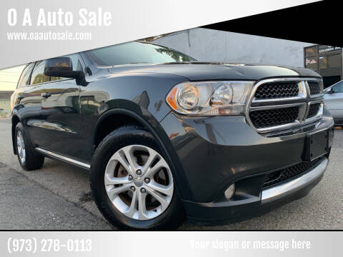 2011 Dodge Durango for sale at O A Auto Sale in Paterson NJ