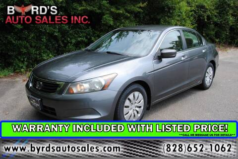 2009 Honda Accord for sale at Byrds Auto Sales in Marion NC