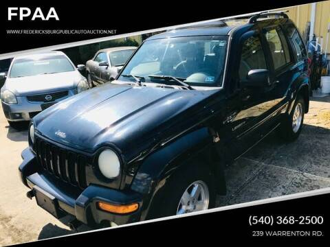 2004 Jeep Liberty for sale at FPAA in Fredericksburg VA