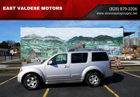 2005 Nissan Pathfinder for sale at EAST VALDESE MOTORS in Valdese NC