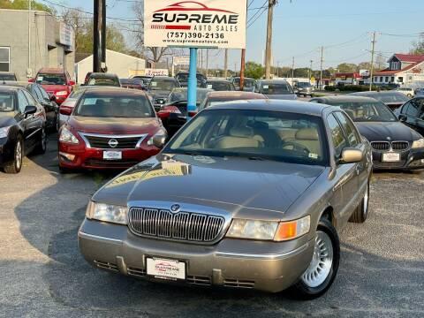 2001 Mercury Grand Marquis for sale at Supreme Auto Sales in Chesapeake VA