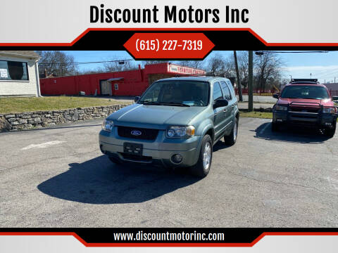 2006 Ford Escape for sale at Discount Motors Inc in Nashville TN