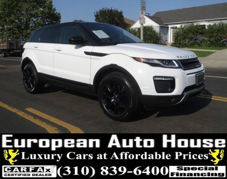 2018 Land Rover Range Rover Evoque for sale at European Auto House in Los Angeles CA