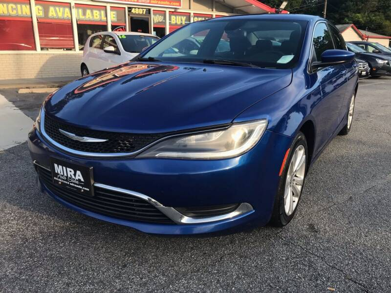 2015 Chrysler 200 for sale at Mira Auto Sales in Raleigh NC