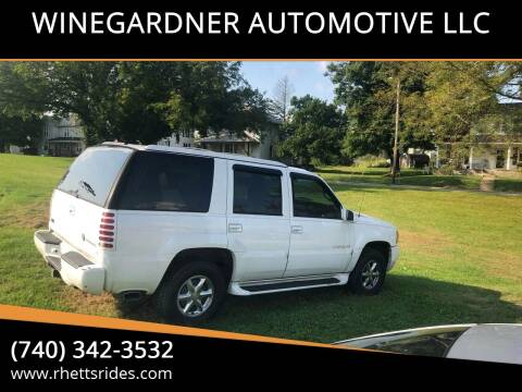 2000 Cadillac Escalade for sale at WINEGARDNER AUTOMOTIVE LLC in New Lexington OH