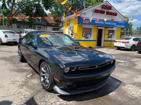 2015 Dodge Challenger for sale at C & M Auto Sales in Detroit MI