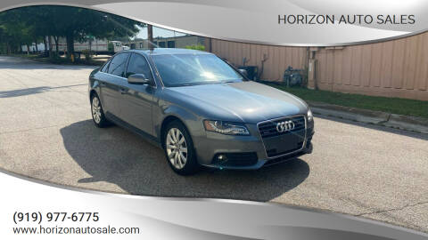 2012 Audi A4 for sale at Horizon Auto Sales in Raleigh NC