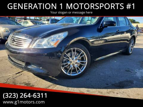 2007 Infiniti G35 for sale at GENERATION 1 MOTORSPORTS #1 in Los Angeles CA