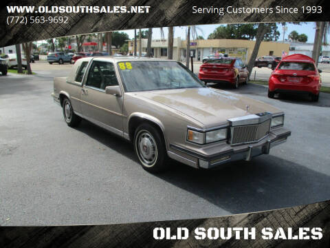 1988 Cadillac DeVille for sale at OLD SOUTH SALES in Vero Beach FL