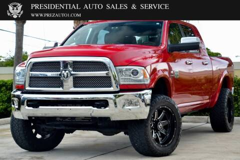 2014 RAM Ram Pickup 3500 for sale at Presidential Auto  Sales & Service in Delray Beach FL