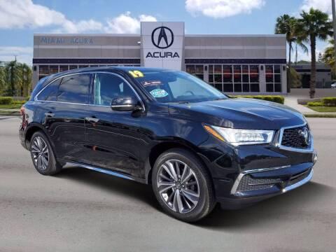 2019 Acura MDX for sale at MIAMI ACURA in Miami FL