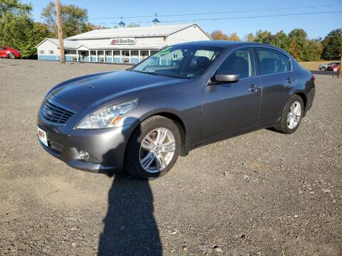 2013 Infiniti G37 Sedan for sale at ALL WHEELS DRIVEN in Wellsboro PA
