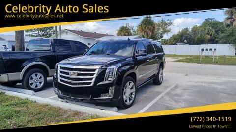 2016 Cadillac Escalade ESV for sale at Celebrity Auto Sales in Fort Pierce FL