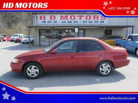 2001 Toyota Corolla for sale at HD MOTORS in Kingsport TN