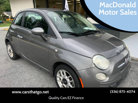 2012 FIAT 500 for sale at MacDonald Motor Sales in High Point NC