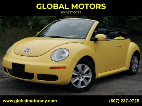 2008 Volkswagen New Beetle Convertible for sale at GLOBAL MOTORS in Binghamton NY