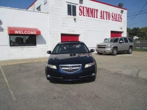 2008 Acura TL for sale at Summit Auto Sales Inc in Pontiac MI
