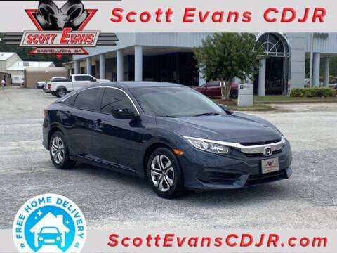 2018 Honda Civic for sale at SCOTT EVANS CHRYSLER DODGE in Carrollton GA