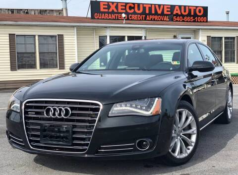 2012 Audi A8 L for sale at Executive Auto in Winchester VA