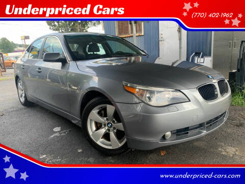 2006 BMW 5 Series for sale at Underpriced Cars in Marietta GA