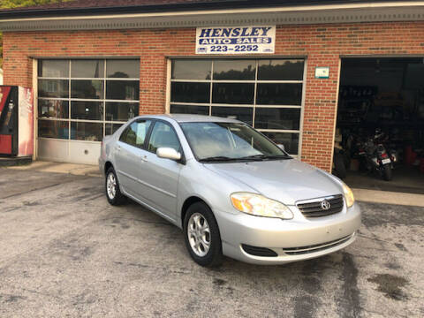 2006 Toyota Corolla for sale at Hensley Auto Sales in Frankfort KY