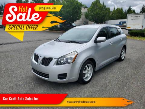 2009 Pontiac Vibe for sale at Car Craft Auto Sales Inc in Lynnwood WA