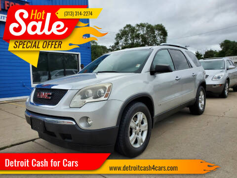 2009 GMC Acadia for sale at Detroit Cash for Cars in Warren MI