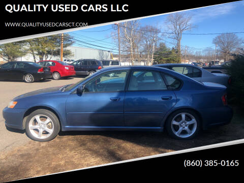 2007 Subaru Legacy for sale at QUALITY USED CARS LLC in Wallingford CT
