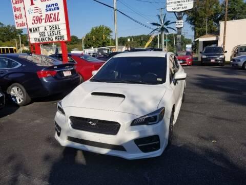 2015 Subaru WRX for sale at 1st Choice Auto Sales in Newport News VA
