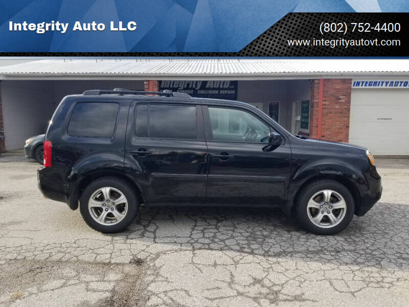 2014 Honda Pilot for sale at Integrity Auto LLC - Integrity Auto 2.0 in St. Albans VT