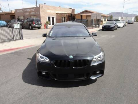 2015 BMW 5 Series for sale at CONTRACT AUTOMOTIVE in Las Vegas NV