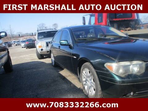 2002 BMW 7 Series for sale at First Marshall Auto Auction in Harvey IL
