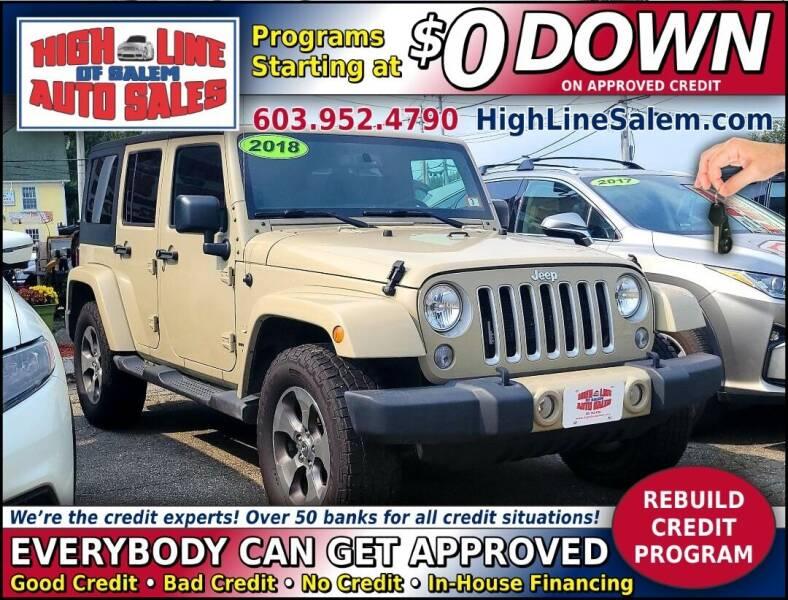 2018 Jeep Wrangler JK Unlimited for sale at High Line Auto Sales of Salem in Salem NH