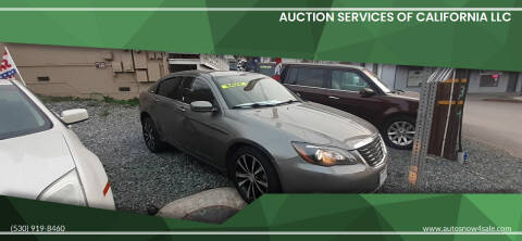 2013 Chrysler 200 for sale at AUCTION SERVICES OF CALIFORNIA in El Dorado CA