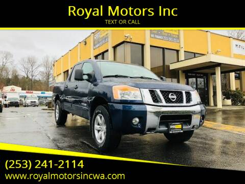 2010 Nissan Titan for sale at Royal Motors Inc in Kent WA